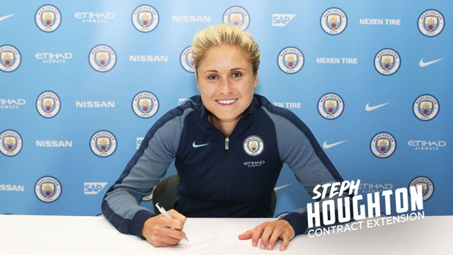 WATCH: Steph Houghton reacts to her new deal.