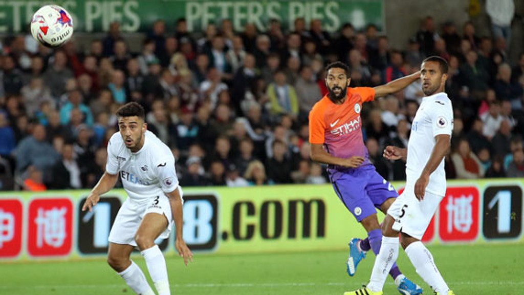 Gael Clichy scores his team's first goal