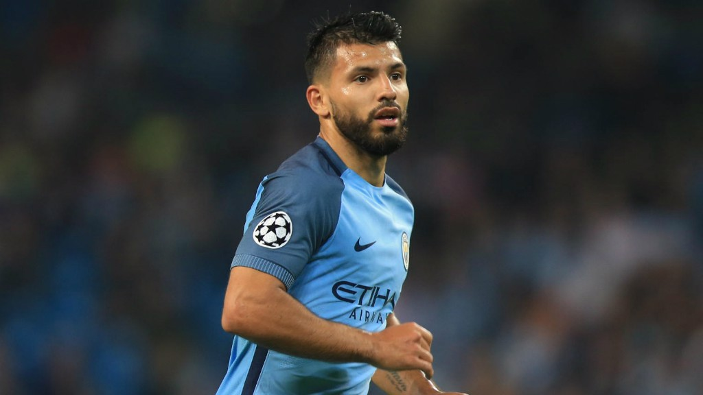 AGUEROOOOO: Kun took just eight minutes to break the deadlock
