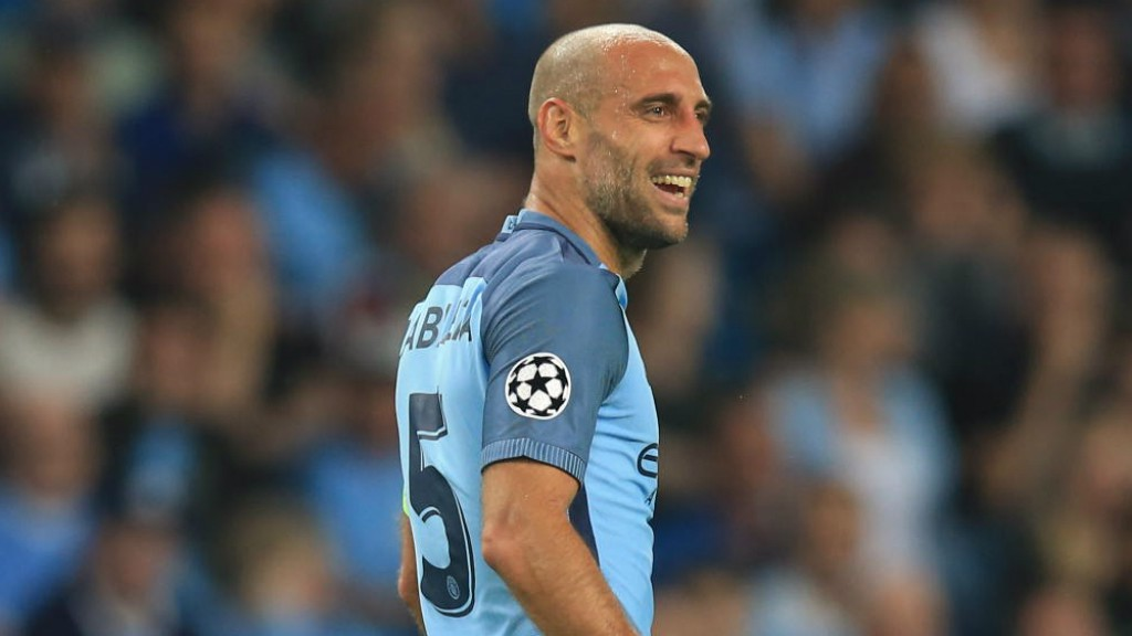 SKIPPER: Pablo Zabaleta was handed the captain's armband