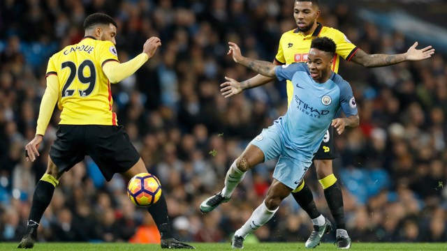 WING MAN: Raheem Stering bursts past his man