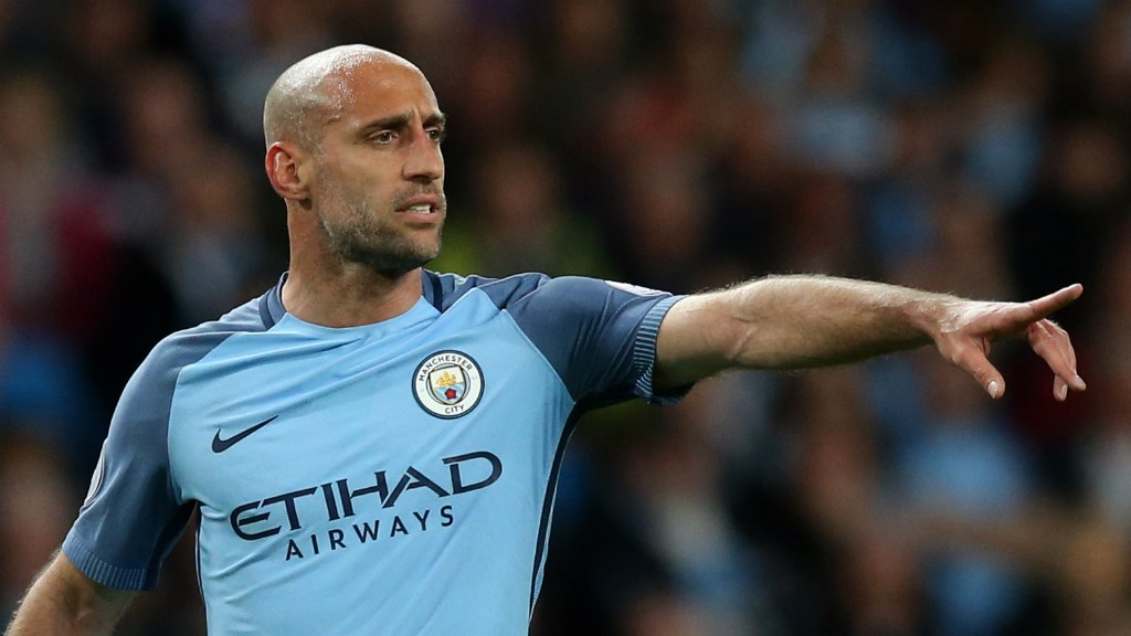 #OURZAB: Pablo Zabaleta was introduced on the hour-mark