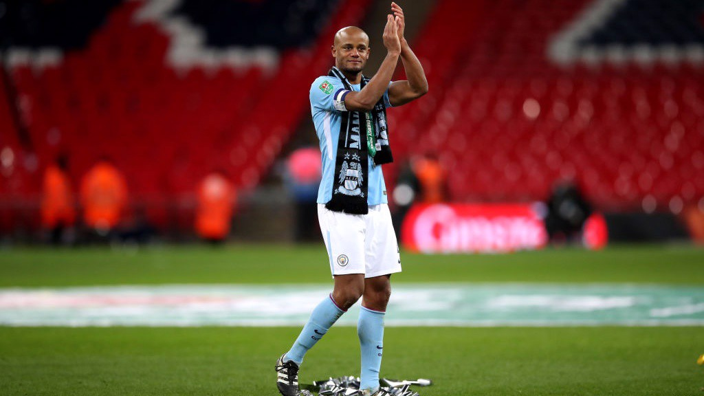 THE BOSS: What an occasion for Vincent Kompany!