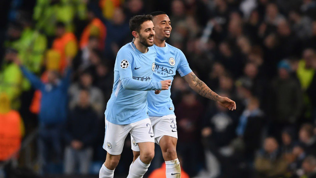 ASSIST KING: Gabriel Jesus finishes off a delightful pass from Bernardo Silva.