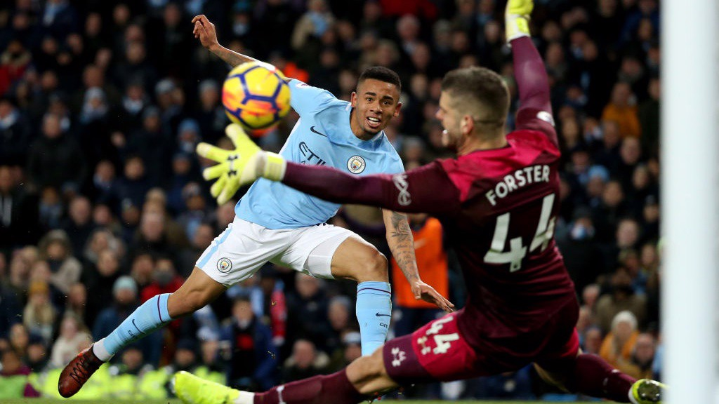 ON THE PROWL: Gabriel Jesus goes close to adding a second for City.