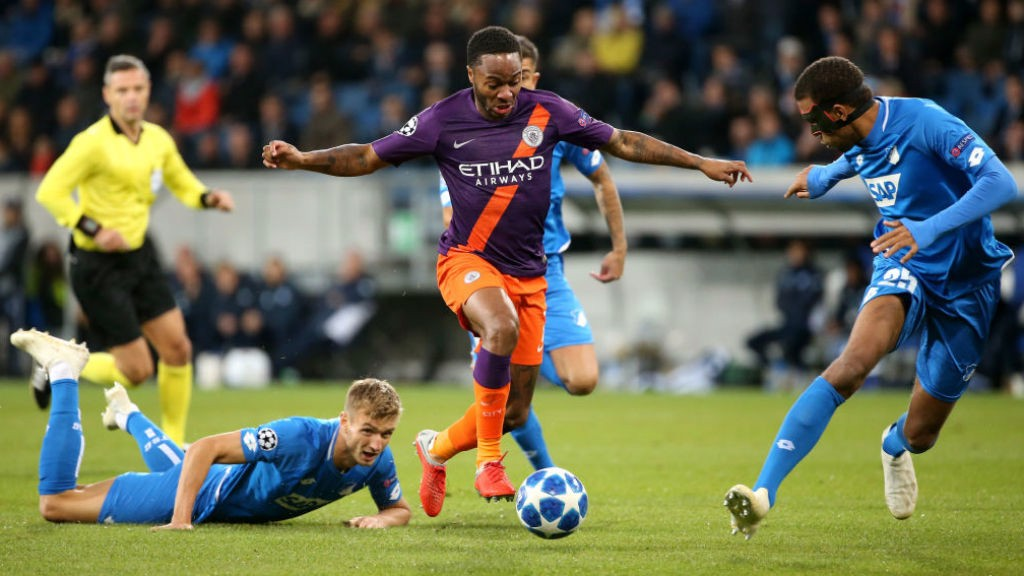 ACTION MAN: Raheem Sterling causes havoc amongst the Hoffenheim defence