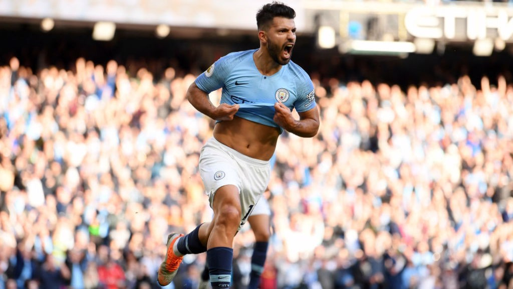 CLASS: Aguero celebrates his 206th City goal