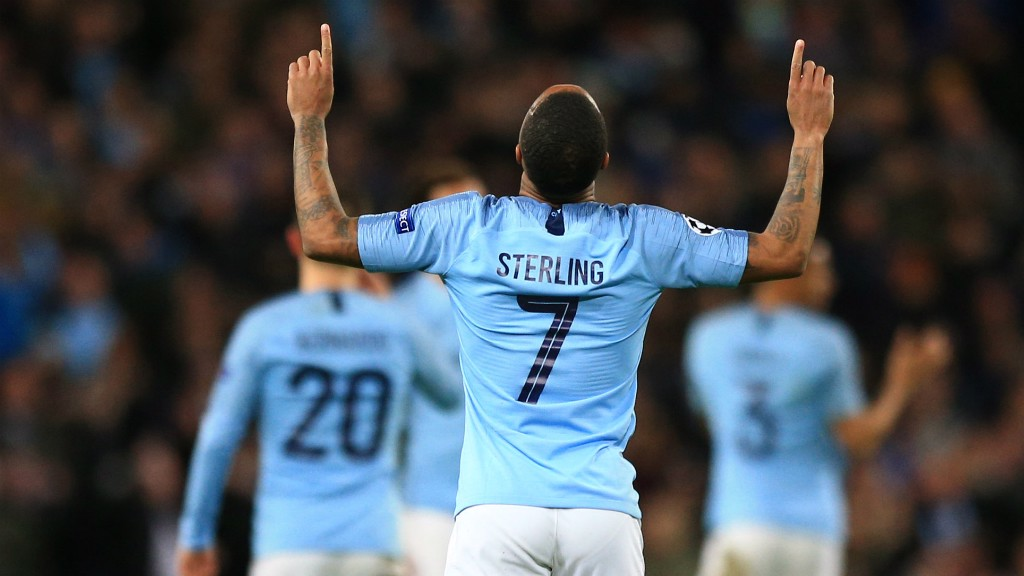 RAZ-MA-TAZ: Raheem Sterling has been directly involved in nine goals (six goals and three assists) in his last four starts at the Etihad in all competitions!