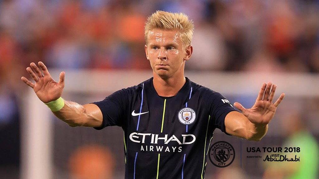 CALM: Zinchenko slows things down.