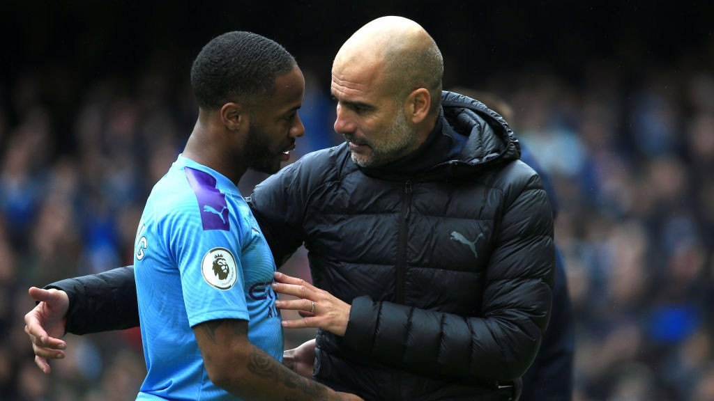 IMPRESSED: Pep Guardiola was delighted with Raheem Sterling's showing against Aston Villa.