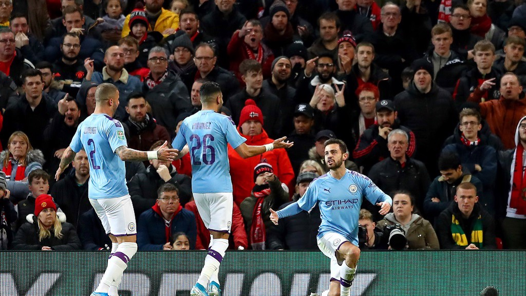 OPENER: Bernardo Silva celebrates a screamer!