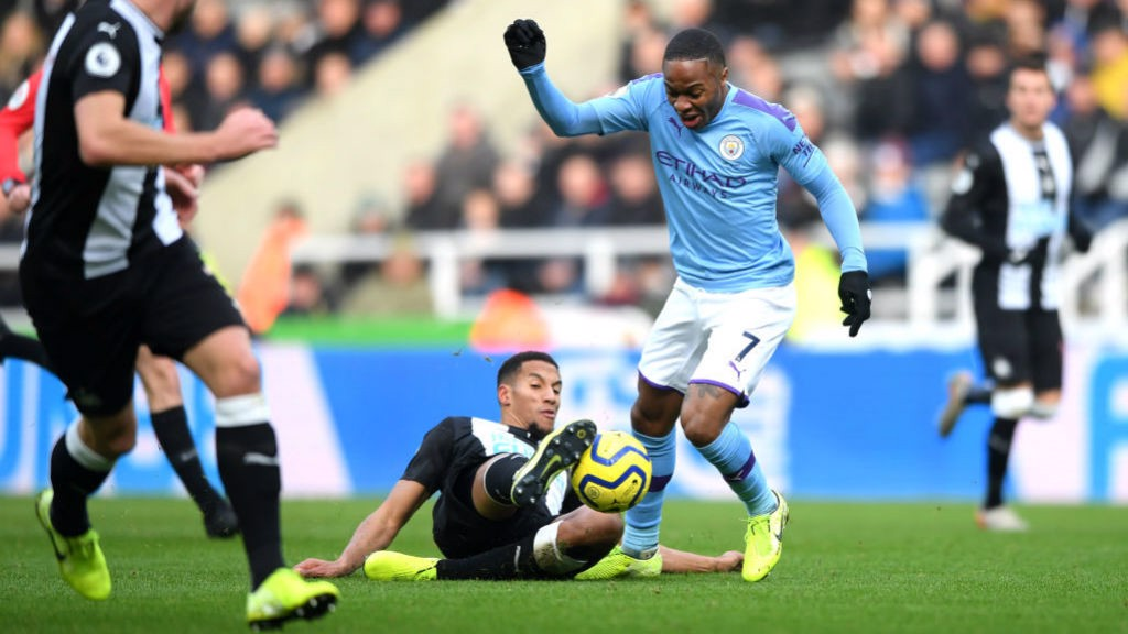 INTO THE ACTION? Sterling tries to get City moving