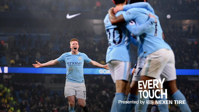 SUPER KEV: Kevin De Bruyne was imperious in the 4-1 win over Tottenham