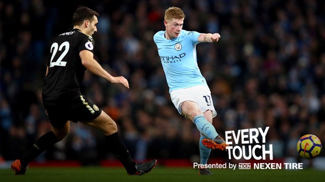 EVERY TOUCH: Kevin De Bruyne's man of the match display against West Brom.