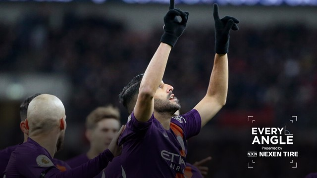 EVERY ANGLE: Enjoy Riyad Mahrez's winner against Tottenham over and over...