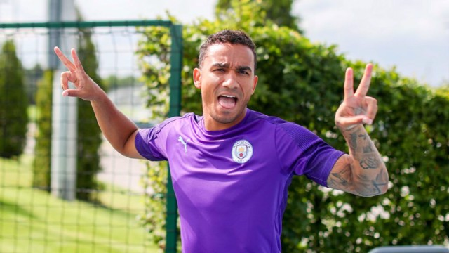 THANK YOU: Danilo has left Manchester City after two seasons.