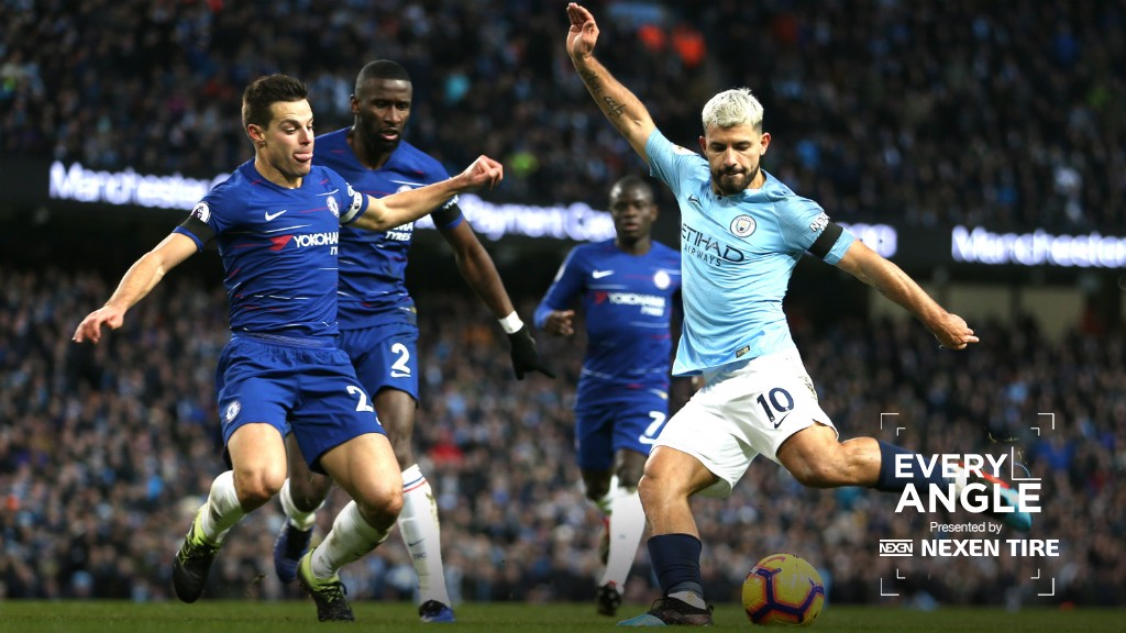 EVERY ANGLE: Savour Sergio Aguero's thunderous, 25-yard rocket against Chelsa
