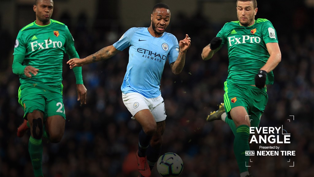 EVERY ANGLE; Relive Raheem Sterling's magical goal against Watford